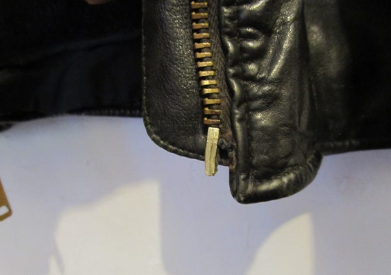 Dark Vintage MARBLED A L 70's Leather Brown BIKER Style BERMANS Men's Is by Jacket As F5RRnxI