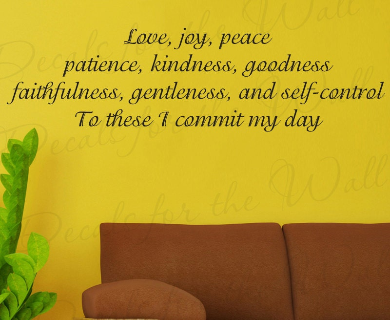 Love Joy Peace Patience Kindness Goodness Inspirational Home