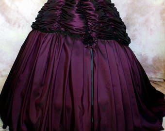 ATELIER COCON Sissi Western Gothic Crinoline Ball Gown skirt according to historical template length adjustable *** made in any size ***