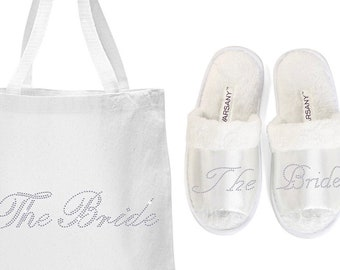Bride slippers and tote
