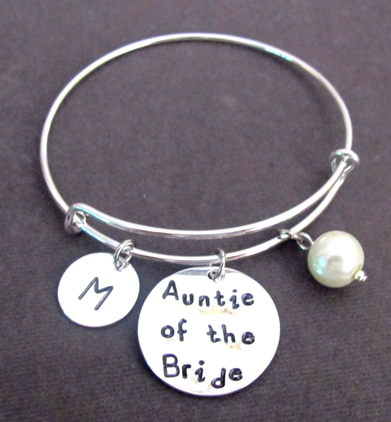 Auntie Of The Bride Braceletaunt Of The Bride Banglepersonalized