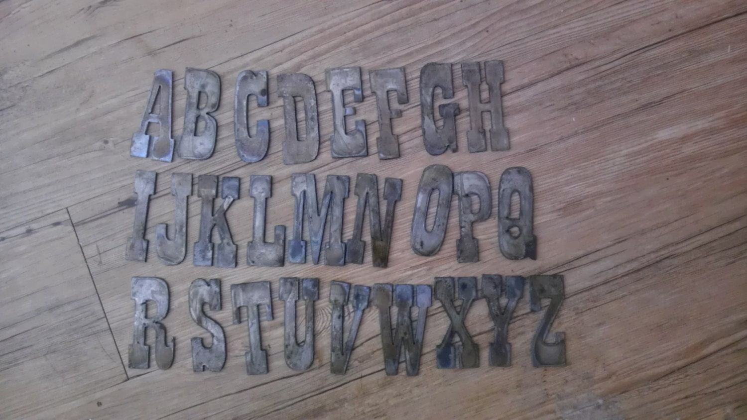 Old Metal Letters Beauteous 3 Inch Letters Alphabet Per Letter Rusty Vintage Western Style Design Inspiration