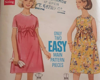 Simplicity 5183, Vintage Maternity Dress Sewing Pattern