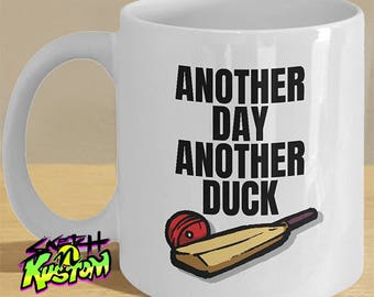 Cricket Gift for Him, Cricketer Gifts, Funny Cricket Mug, Cricketer Mug, Cricket Bat, Cricket Duck, Cricket Lover Cricket Print Mug