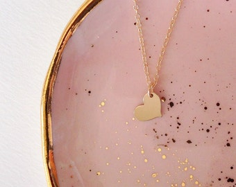 Extra Tiny Gold Heart Necklace, Necklace Heart, Delicate Dainty Necklace, Necklace Gold, Layering Pieces, Layer Necklace Gold Heart, Gift