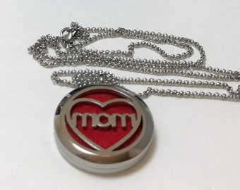Essential oil locket with stainless steel chain. Perfect for Mother's Day.