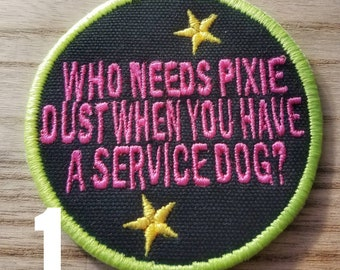 Disney and Pixar inspired Service Dog Patches