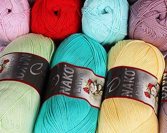 Egyptian cotton and bamboo yarn ESTIVA NAKO, summer yarn, lot yarn, palette, yarn for knitting
