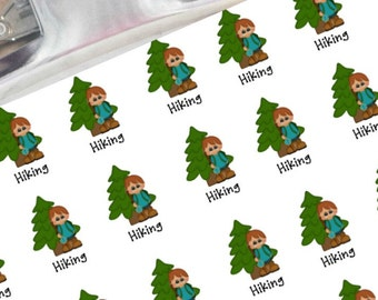 Hiking planner stickers (boy)