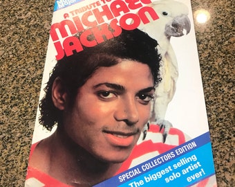 A Tribute to Michael Jackson MAGAZINE Music Major No 4 1985 UK ISSUE
