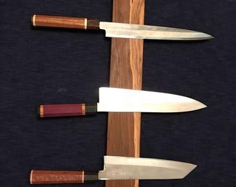 Custom magnetic knife bar