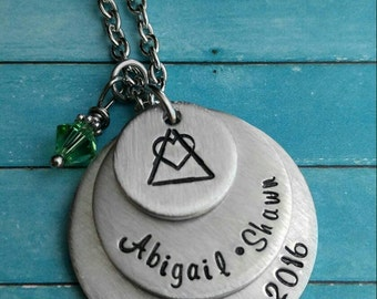 Adoption Necklace, Adoption Gift, Custom Adoption Necklace, Family Adoption Gift, Adoptive Parent Necklace, Adoptive Gift for Her