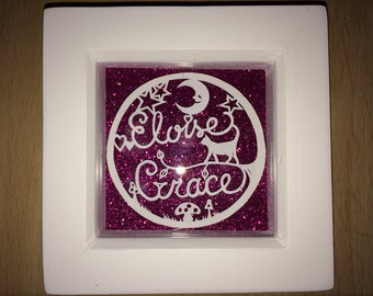 Bespoke Framed Miniature Name Papercuts