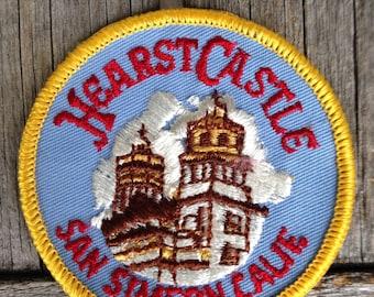 Hearst Castle San Simeon, California Vintage Travel Patch