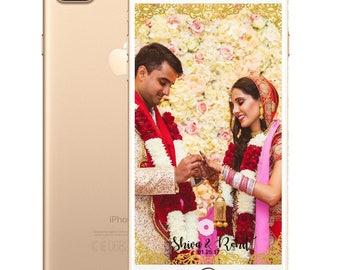Gold Indian Wedding/Engagement SnapChat Filter