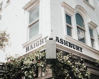 Haight and Ashbury, San Francisco, Peace Sign, Wall Art, Print, Decor, Hippie, Digital Download