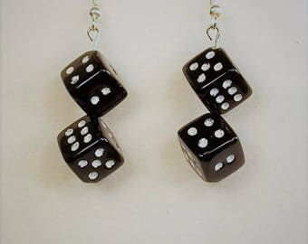 Black and White Dice Earrings