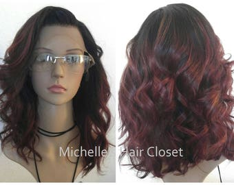The BEST 100% Premium Quality INVISIBLE Lace Front Human Hair Wig * Custom Cut & Color * Pre-plucked for NATURAL Hairline!!