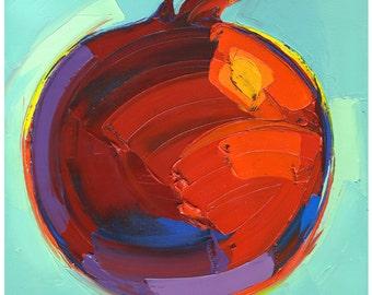 Print - Brilliant Pomegranate-10X10-Modern Fine Art