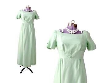 Mint Green Dress Formal 1960s Dress Prom Dress Women Clothing Formal Dress Evening Dress Dresses / Vintage Clothing Dresses