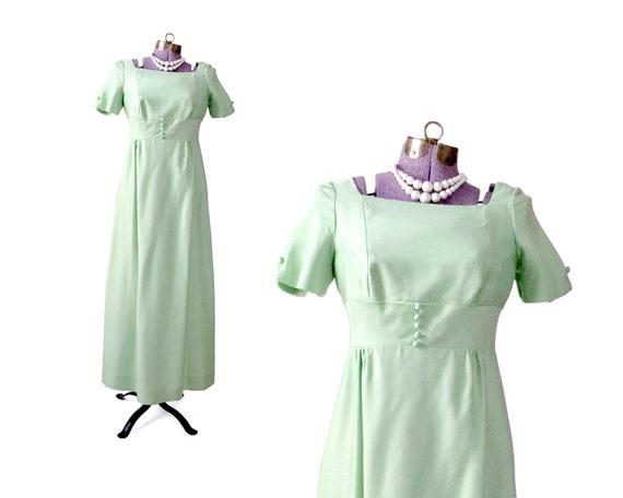 1960s Prom Dress Formal Dress Mint Green Dress Retro Dress
