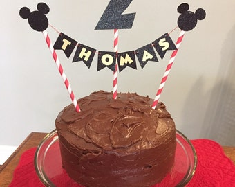 Mickey Mouse cake topper.