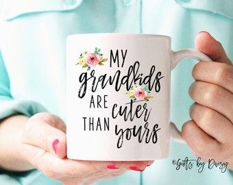 Grandma Gift, Gifts ideas for grandma, Nana Gift,  Grandmother Gift, Valentines day gift, coffee mug, mothers day gift, grandkids gifts m322
