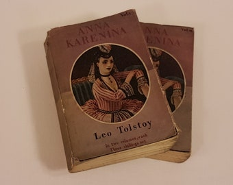 Leo Tolstoy Anna Karenina, Literary Gift, Anna Karenina Book Gift, Tolstoy Book, Russian Literature, Classic Literature, Old Vintage Books