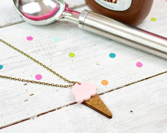 Ice Cream Necklace | Candy Pink | Summer Jewellery