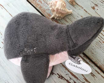 Stuffed Toy Whale 5,9 inches