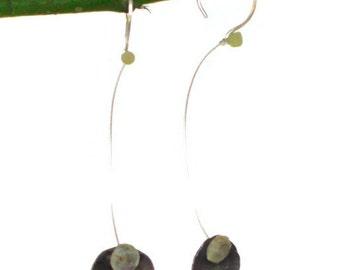 Patina Silver Dangling Blooms earrings