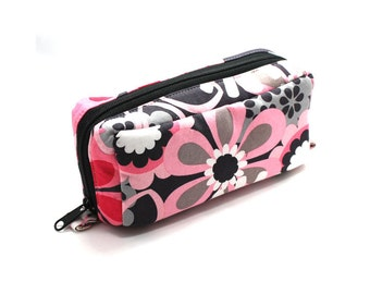 Essential Oil Case Holds 10 Bottles Essential Oil Bag Pink and Gray Large Flowers