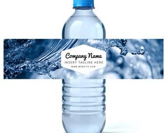 Etiquetas de la botella de agua personalizada - su logotipo de empresa o etiquetas de botella de agua de diseño - artículo promocional - empresa - publicidad - regalo cliente