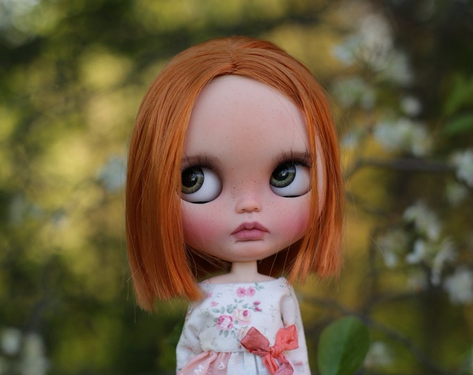 Vesna ~ ooak custom Blythe doll Prima Dolly Winsome Willow with Last Kiss trimmed hair obitsu body natural skin tone