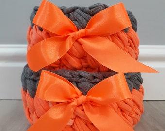 Crochet Basket Set, Baby Basket, Basket Home Decor Photo Prop Crochet Bowl Gift basket - Handmade - Crochet