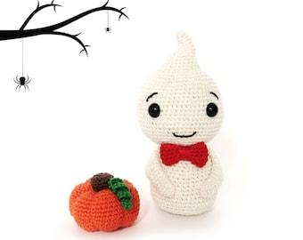 Halloween GHOST Crochet Pattern, Kokeshi Doll