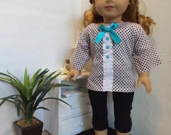 Vous avez de points? tenue w/leggings AmericanGirl s'adapte à type de poupées