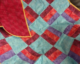 Bright Colored Crib Sized Quilt