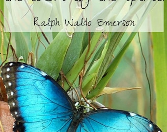 Quote and Art Digital Print| Nature always wears the colors of the spirit.| Quote by Ralph Waldo Emerson| Nature Quote