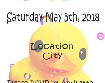 Baby Shower Rubber Ducky Invite Digital Download