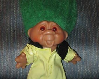 Vintage--1986--Norfin DAM Troll Doll--With Rain Coat