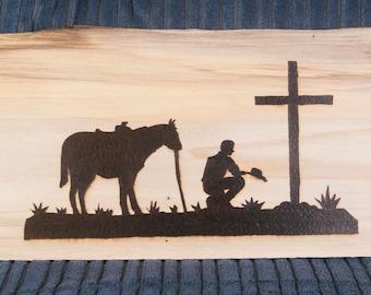 Cowboy at the Cross