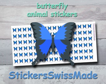 PLANNER STICKER || blue butterfly || animal stickers || small colored icon | for your planner or bullet journal