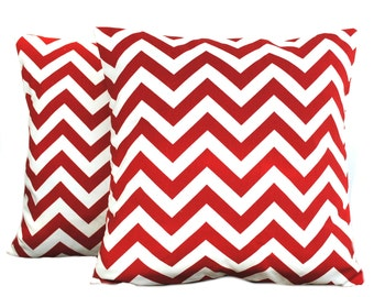 One Premier Prints zig zag red/white pillow cover, cushion, decorative throw pillow, decorative pillow, accent pillow