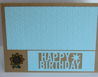 One of a Kind Blue Birthday Card