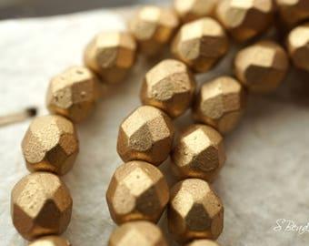 Matte Golden, Czech Beads, Beads, N1749