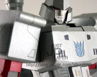Transformers G1 Megatron,Making Gundam,Instant Pdf download, DIY, 3D Pattern,Paper toys,Handmade Gundam,Paper Crafts,Paper Robot,3Dpaper,3D