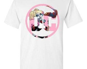 DC Logo for Harley Quinn White T-Shirt