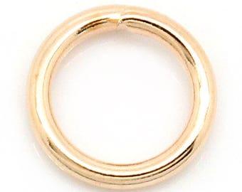 Metal rings rose gold 6 mm, set of 50 Pcs