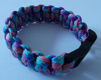 Bracelet PARACORD pastel for teenager or woman
